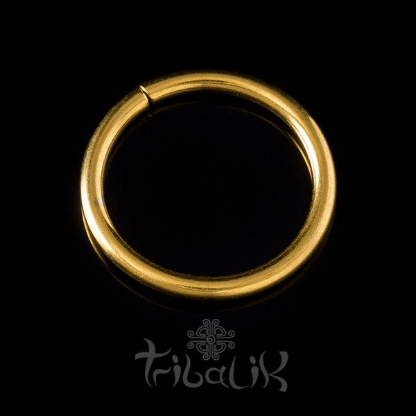 Stainless Steel Yellow Gold PVD Seamless Ring
