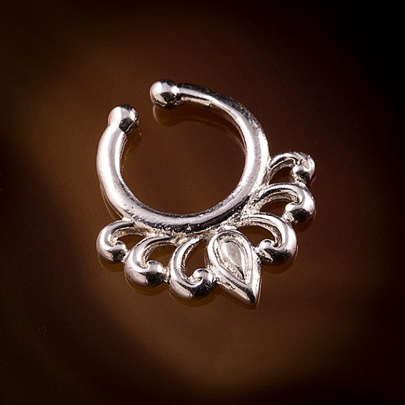 lily droplet silver cheater septum