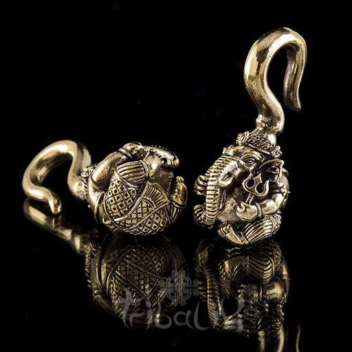 Brass GANESHA Ear Weights