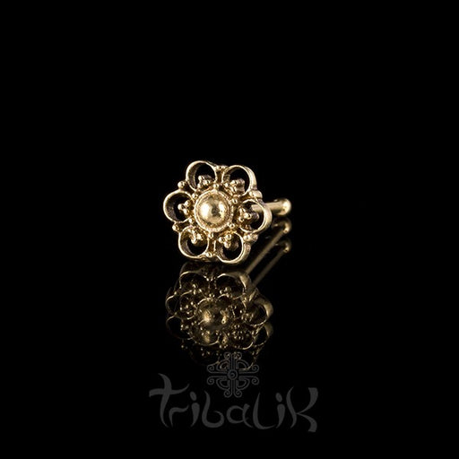 Summer Flower Brass Nose Stud