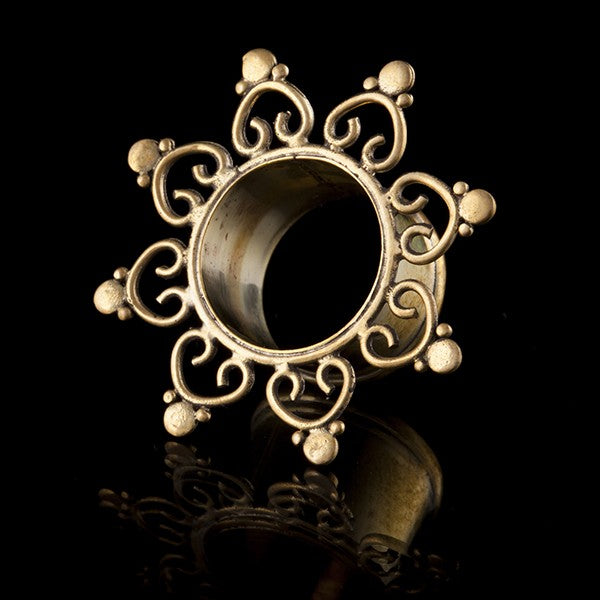 My Diva Heart Brass Ear Tunnel - Eyelet