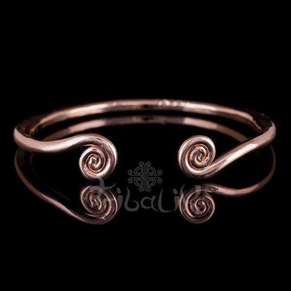 18k Rose Gold Plated Bangle | Hill Tribe