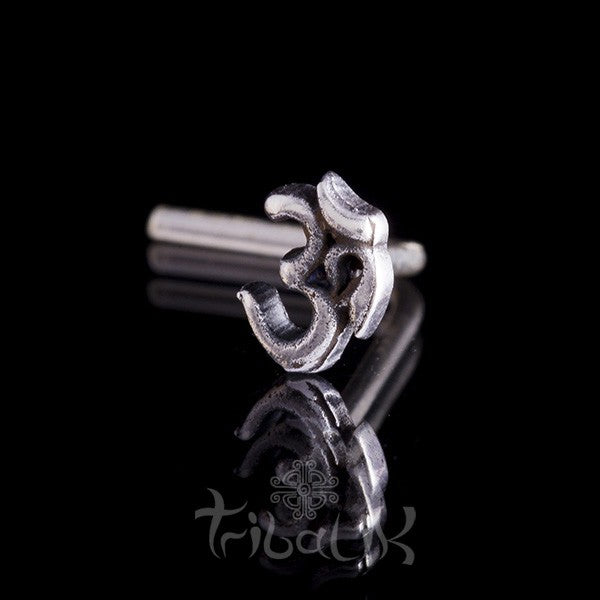 Sterling Silver Ohm Nose Stud