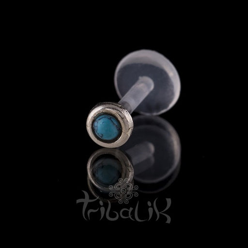 Sterling Silver Turquoise Labret/Tragus Stud