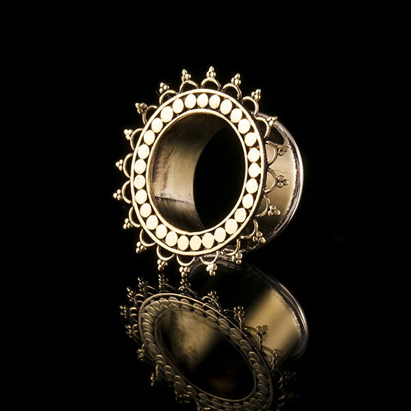 Desert Queen Ornate Brass Ear Tunnels - Plugs - Eyelets
