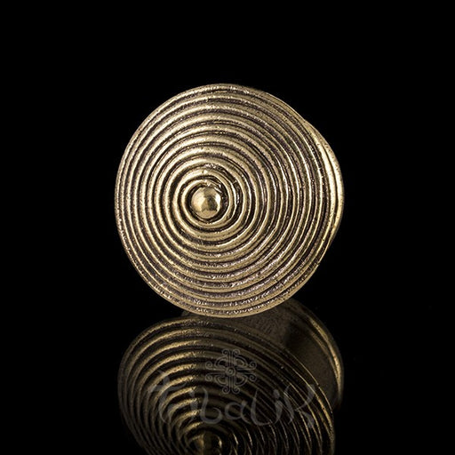 KPELLE Spiral Brass Ear Plug - Tunnel
