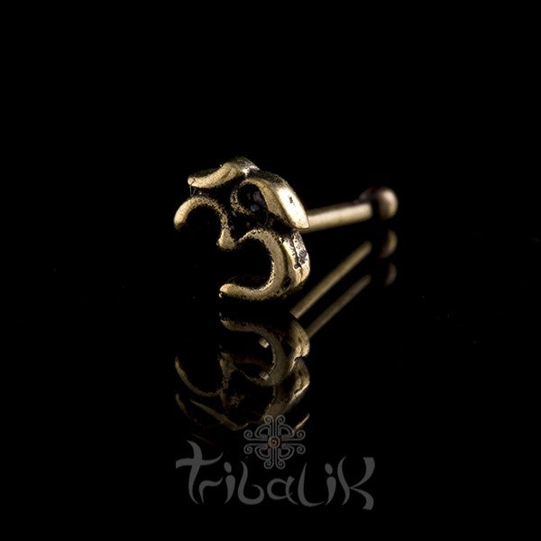 Brass Ohm Nose Stud