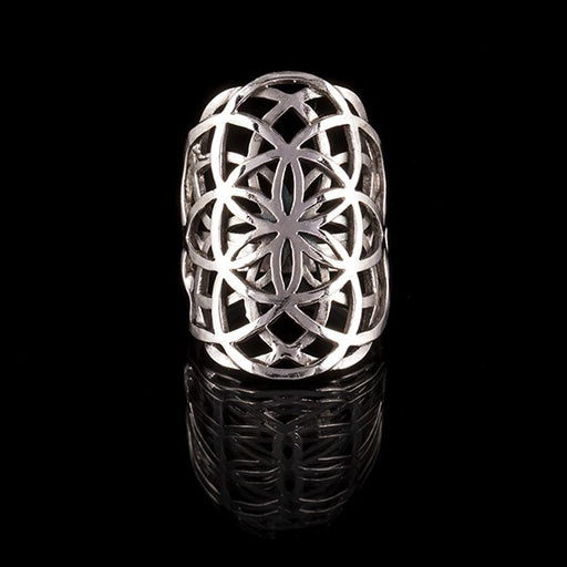 Sterling Silver Ring - Flower of Life