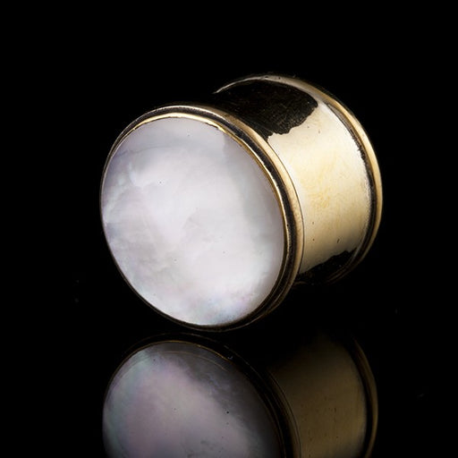 Mother of Pearl Shell & Brass Ear Plug