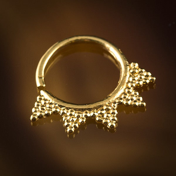 Gold Plated Sterling Silver Septum Ring For Pierced Nose