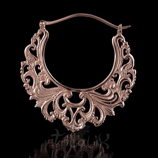 18K Rose Gold Plated 'LIKE THE RIVER' Large Hoop Earrings