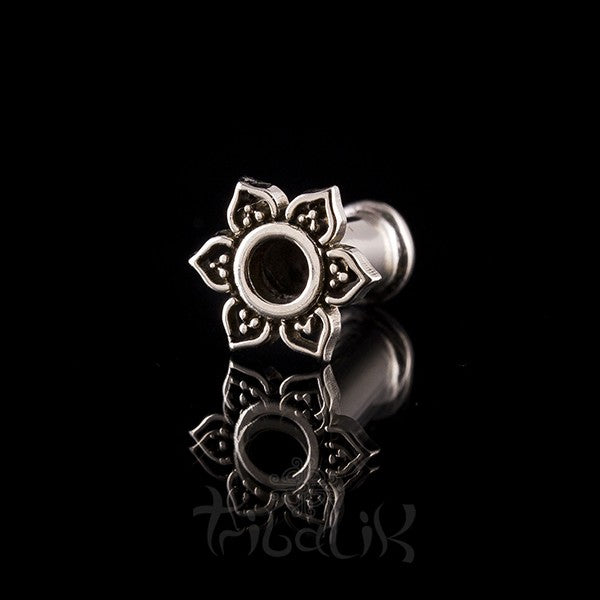 Lotus Petal White Bronze Ear Tunnels - Plugs - Eyelets