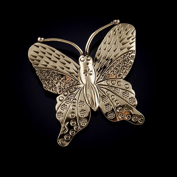 golden butterfly pendant