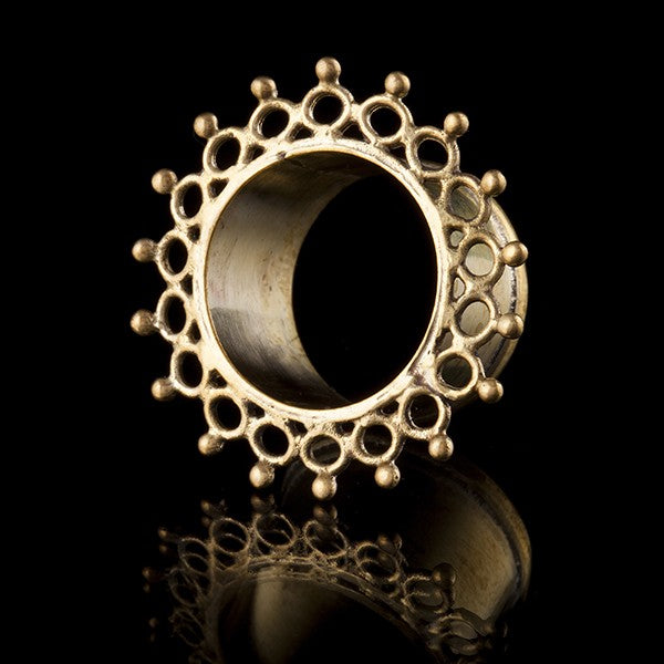 Molecule Brass Ear Tunnels-Flesh Tunnels