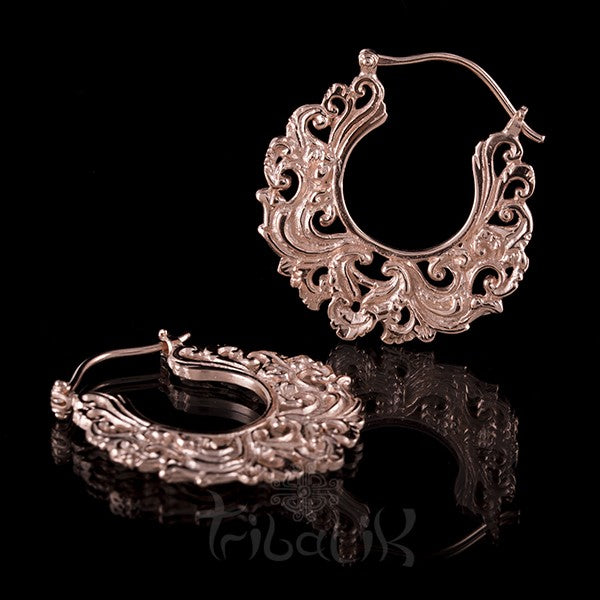 18K Rose Gold Plated LIKE THE RIVER Small Hoop Earrings
