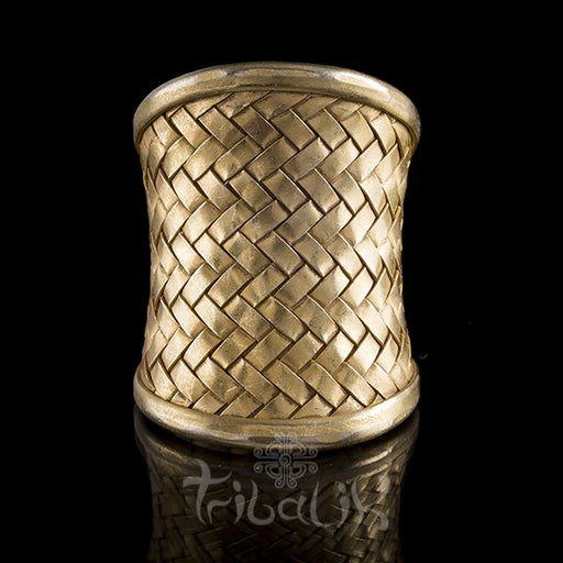 22K Gold Plated Silver Woven Latice Ring