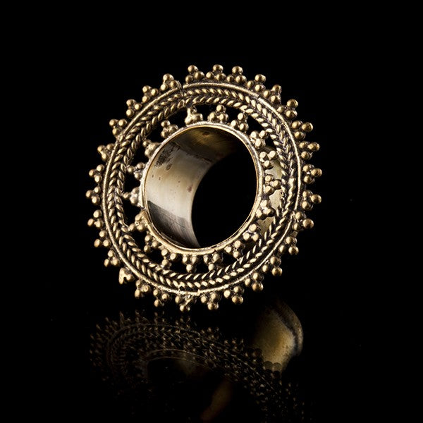 Woven Mandala Brass Ear Tunnel-Eyelet