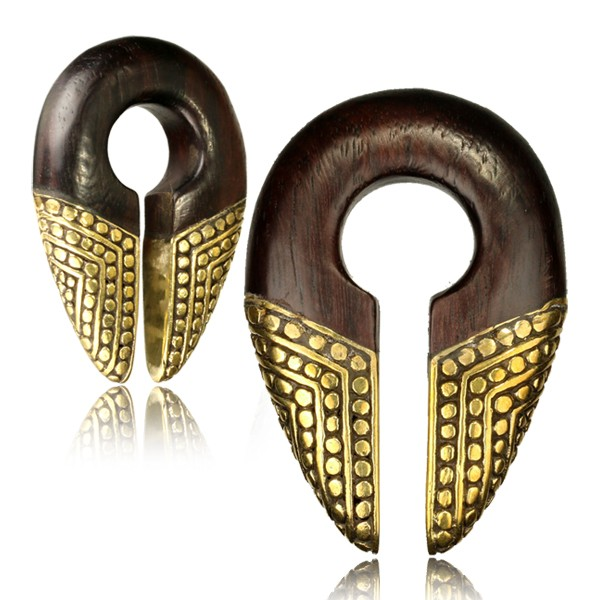 Brass & Wood Ear Weights