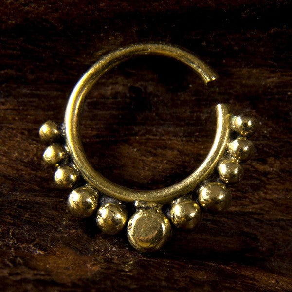 Cosina Brass Septum Ring for Pierced Nose - 1.2mm