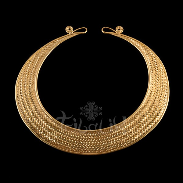 Gold Plated Choker | Hill Tribe Woven