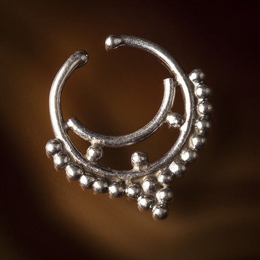 silver cheater septum ring