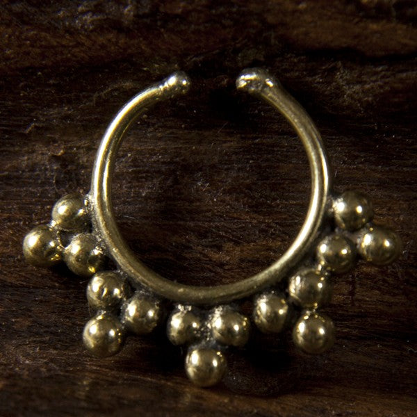 Large Faux / Fake Brass Septum Ring - Clip on - Siriano