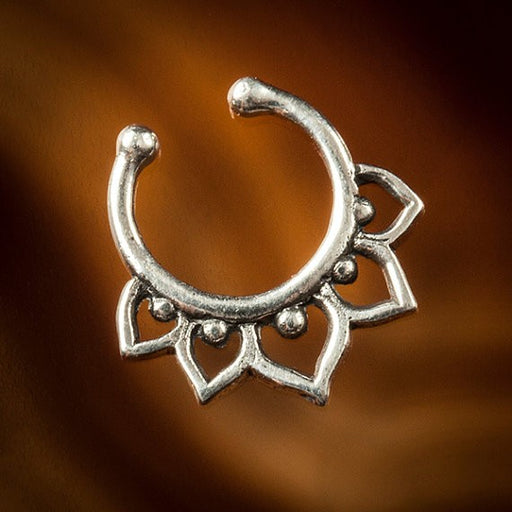 sterling silver fake septum