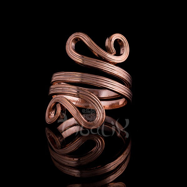 18K Rose Gold Ring | Adjustable Swirl