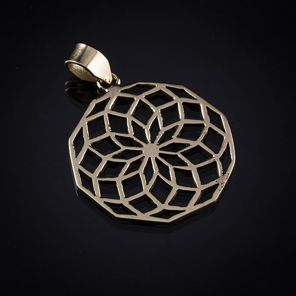 gold seed of life pendant
