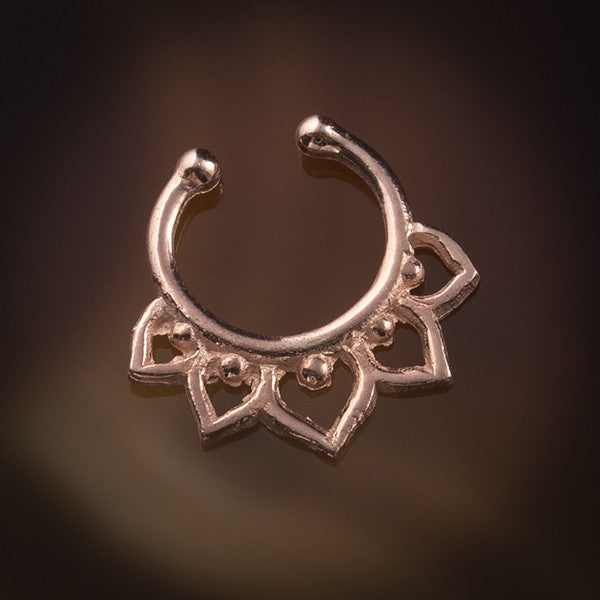 rose gold fake septum ring