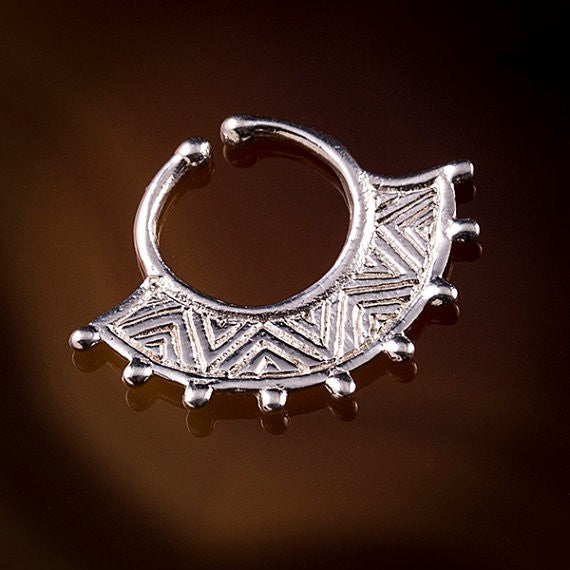 cheater silver septum ring