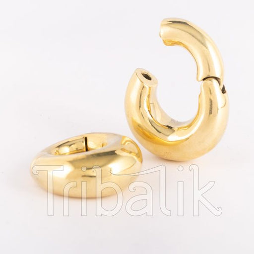 6mm Brass Clicker Ear Weights - Nomade