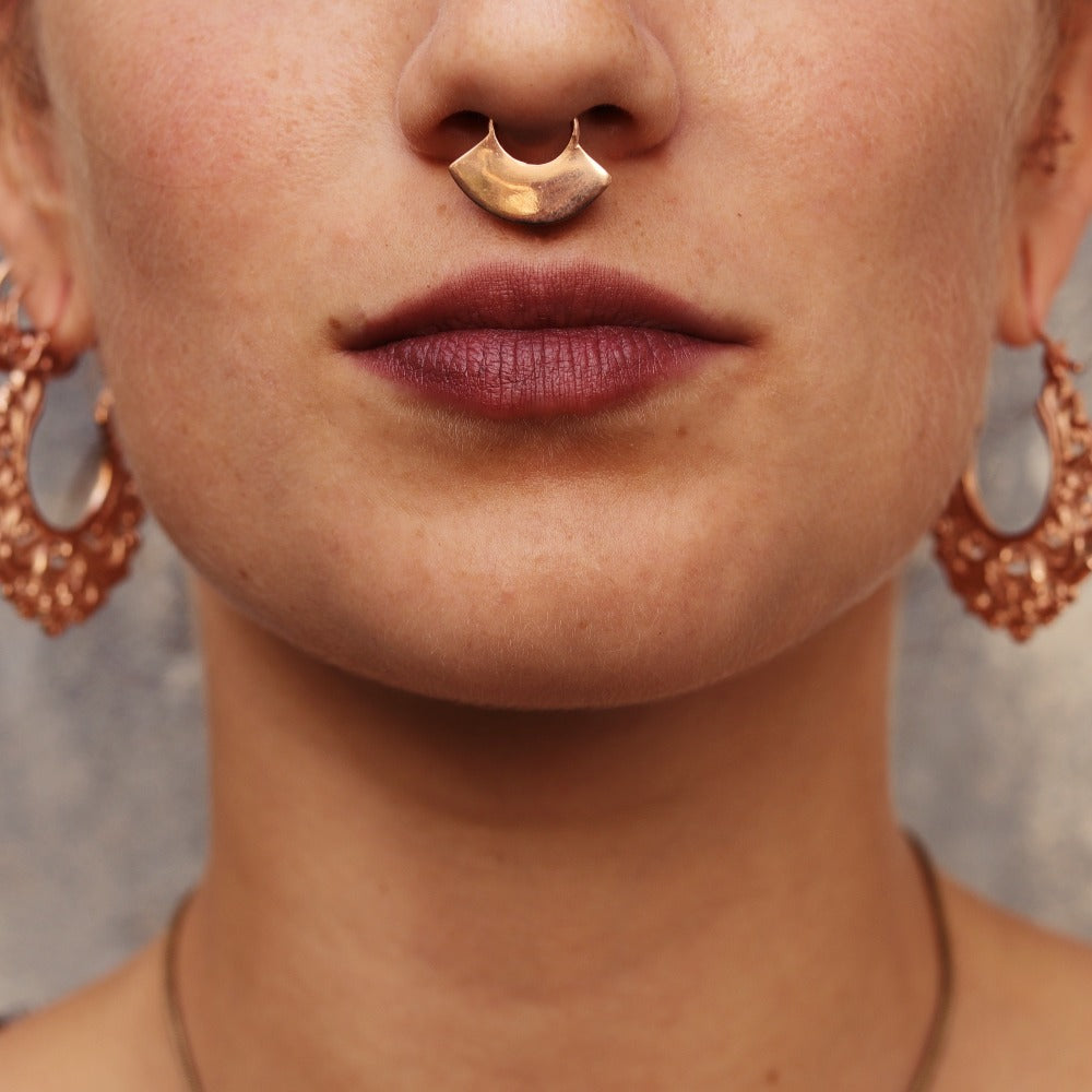 Plain Rose Gold Plated Septum Ring- Apache