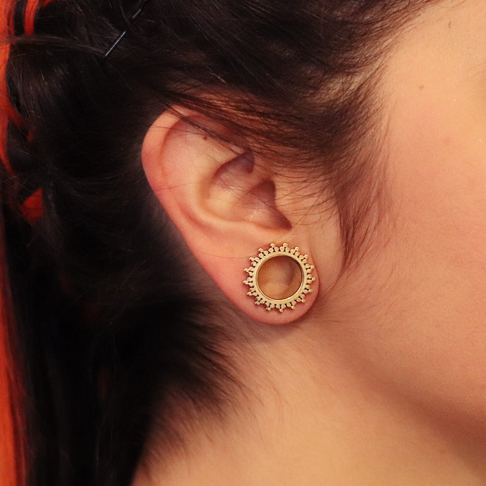 Surgical Steel Ear Tunnel Gold