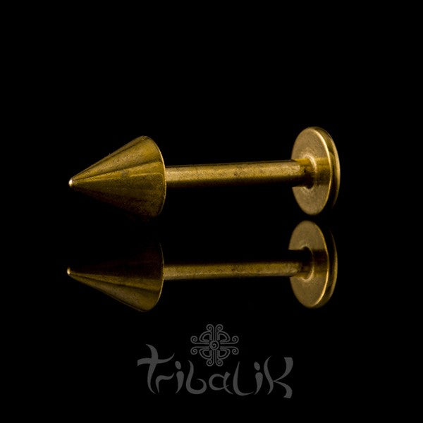 Gold Plated & Stainless Steel Spike Labret