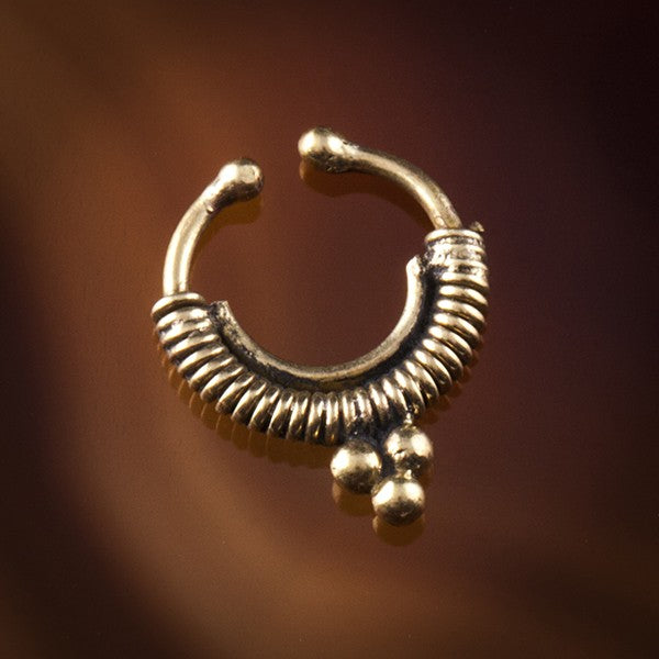 Gold Faux / Fake Septum Ring - Clip on- Cashibo