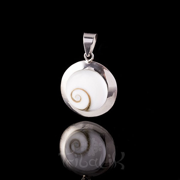Silver Double Shell Pendant