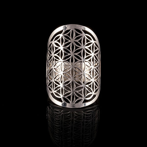 Sterling Silver Flower of Life Ring