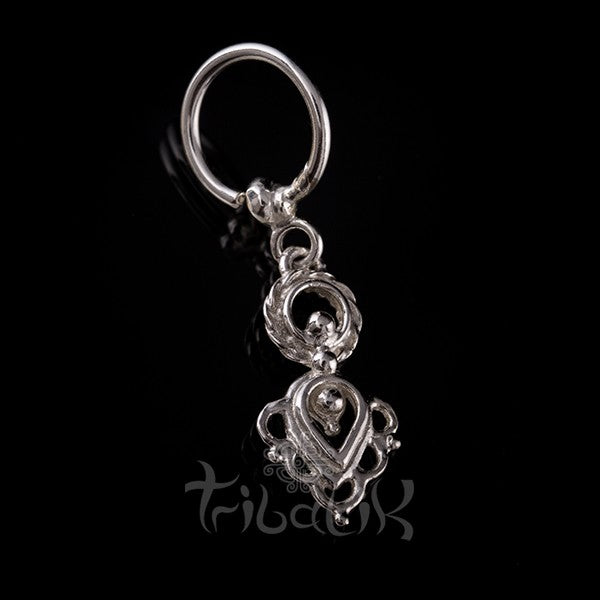 Sterling Silver Indian Style Belly Ring