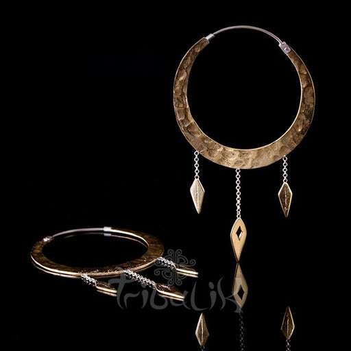 gold earrings daggers gypsy