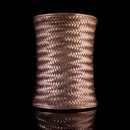 18k Rose Gold Goddess Cuff | Large Woven