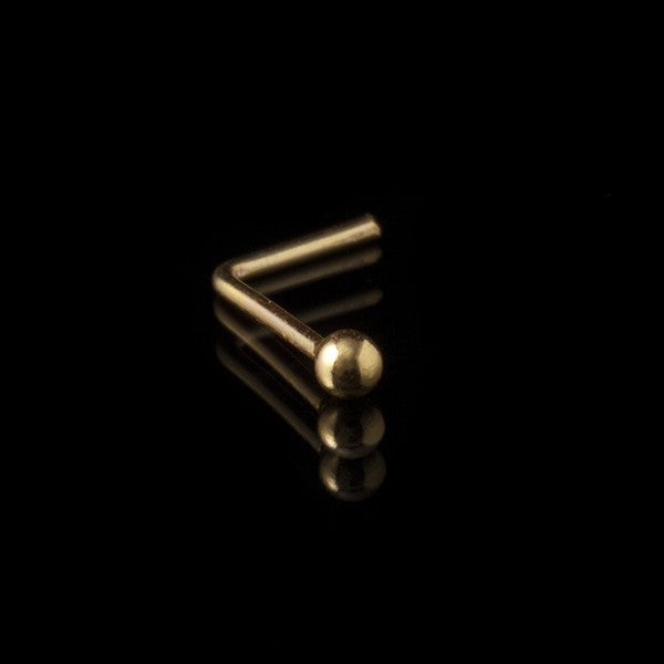 Gold Plated Nose Stud | Plain