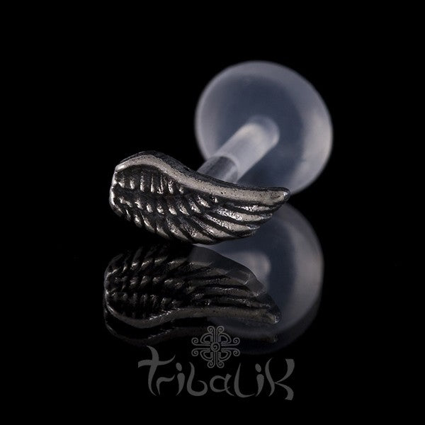 Sterling Silver Wing Stud | Bar