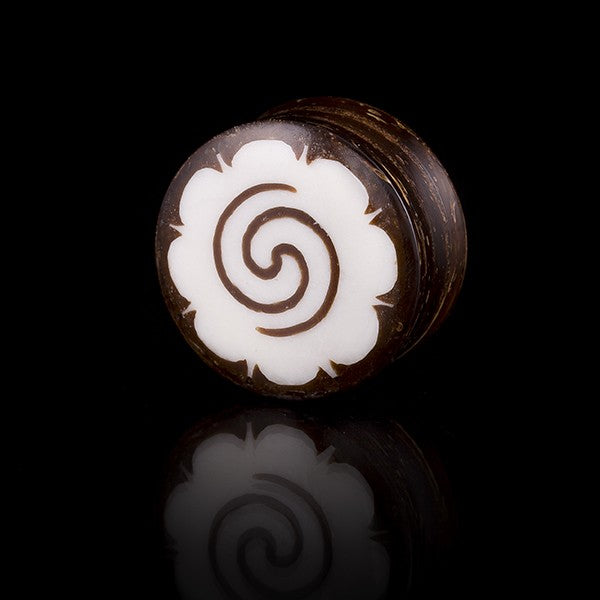 Coconut Shell Ear Plug