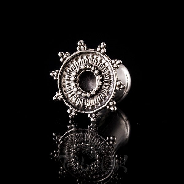 Ornate White Bronze Ear Tunnels - Plugs - Eyelets