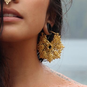 22K Gold Plated Hoop Earrings- Copo