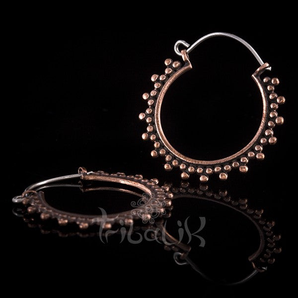 copper and stainless steel hoops
