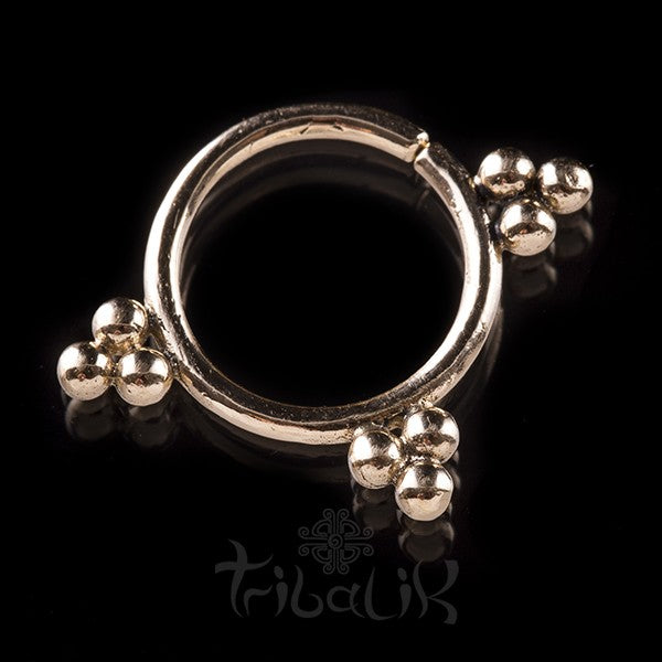 LOKONO 14k Solid Gold Septum Ring