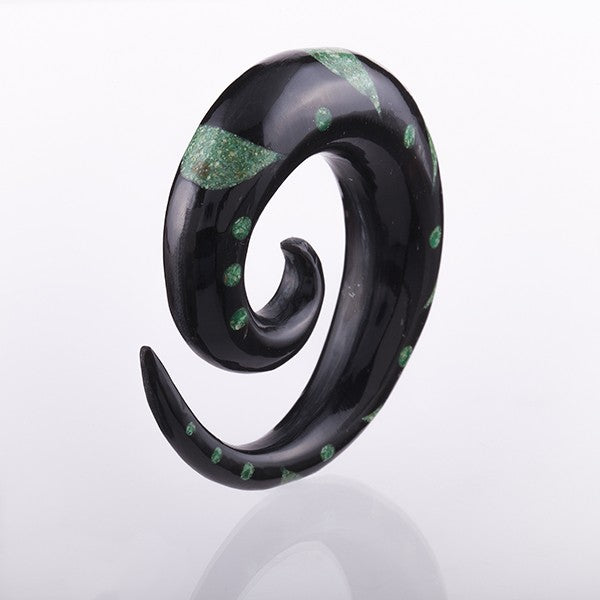 Horn and Malachite Inlay Spiral Expander