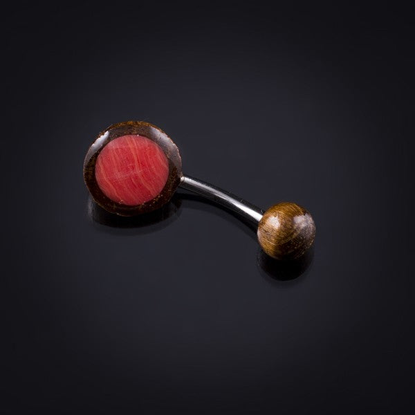 Belly Bar | Tamarind Wood and Red Stone